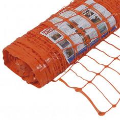 Malla De Seguridad 1 X 50 Mts. Naranja,