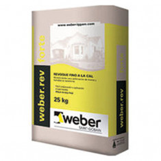 Weber.rev Forte, Revoque A La Cal P/ext. X 25 Kg.,  *56*