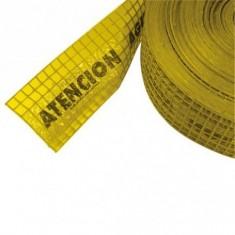 Malla Advert. P/gas (amarillo) 0,30 X 100 Mts.
