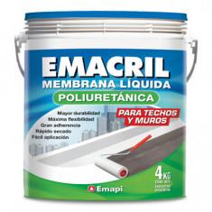"Emacril Poliuretanica Memb. Liquida Blanca × 4 Kgs., ""emapi"" *4*"