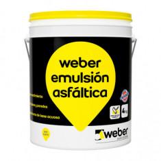 Weber Emulsion Asfaltica Acuosa X 4 Kg.  *28*