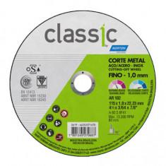 """Disco  Corte Classic 114,3 X 1,0 X 22,2, """"norton""""  (25)"""