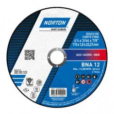"""Disco Corte Bna Plano 114,3 X 1,0 X 22,2, """"norton"""" (25)"""