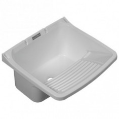 Pileta Pvc P/lavadero Blanco Chica 46 × 42 × 20 Cm. *5*
