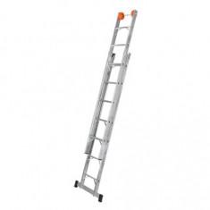 Escalera Alum. Extensible 7 Esc., 265 A 385 Cm.