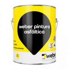 Weber Pintura Asfaltica Base Solvente X 4 Lt. *6*