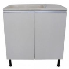 Mueble P/lavadero C/bacha De Marmol Sintetico 75 Cm.